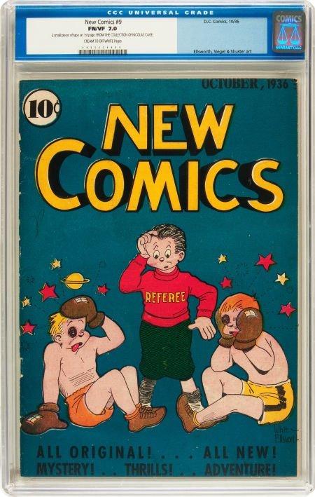 91182: New Comics #9 (DC, 1936) CGC FN/VF 7.0 Cream to