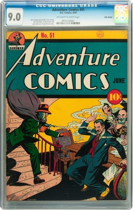 91017: Adventure Comics #51 Billy Wright pedigree (DC,