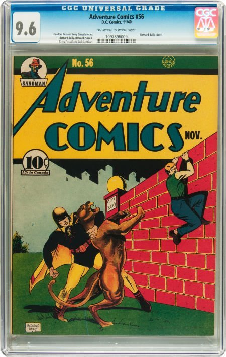 91018: Adventure Comics #56 (DC, 1940) CGC NM+ 9.6 Off-