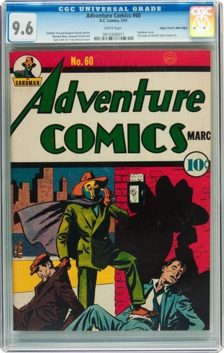 91019: Adventure Comics #60 Mile High pedigree (DC, 194