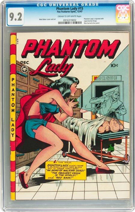 91186: Phantom Lady #15 (Fox Features Syndicate, 1947)