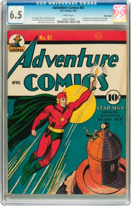 91020: Adventure Comics #61 Billy Wright pedigree (DC,