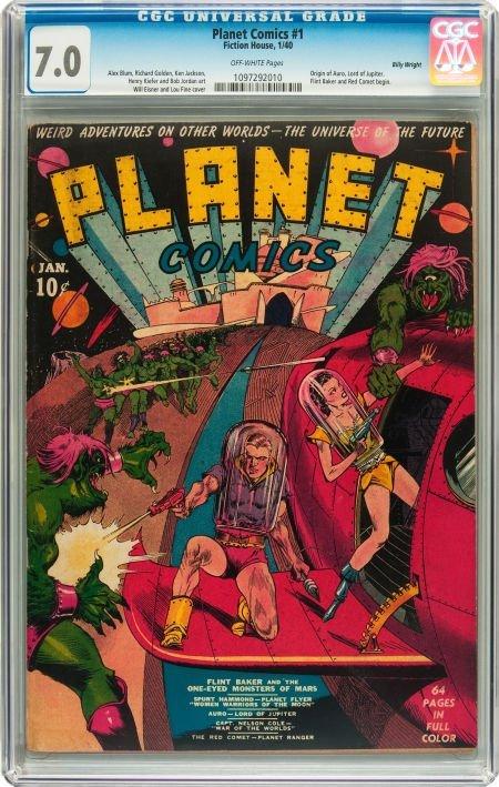 91187: Planet Comics #1 Billy Wright pedigree (Fiction