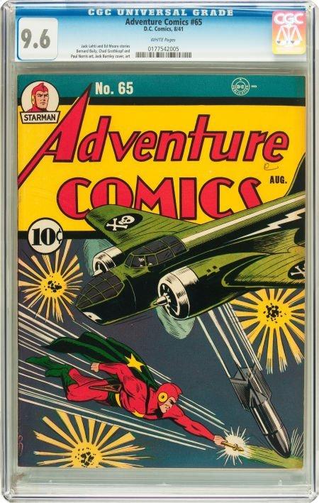 91021: Adventure Comics #65 (DC, 1941) CGC NM+ 9.6 Whit
