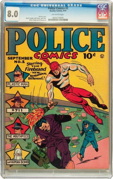 91188: Police Comics #2 (Quality, 1941) CGC VF 8.0 Off-
