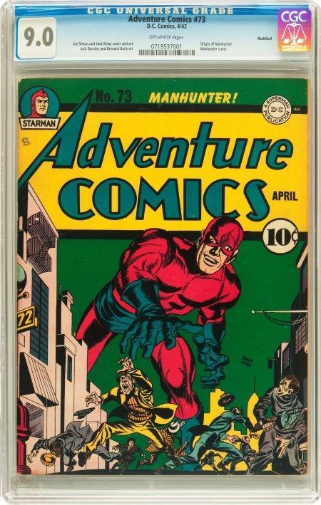 91022: Adventure Comics #73 Rockford pedigree (DC, 1942