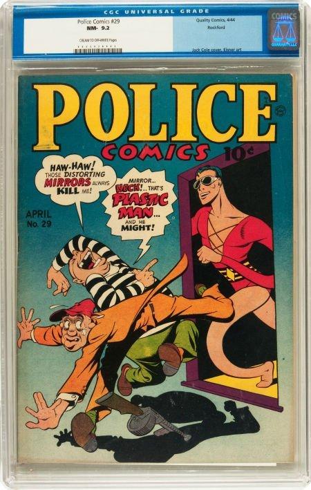 91189: Police Comics #29 Rockford pedigree (Quality, 19