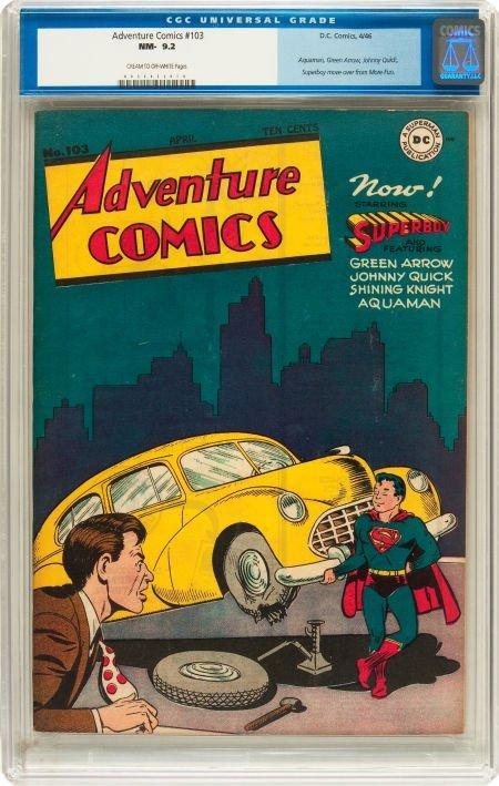 91023: Adventure Comics #103 (DC, 1946) CGC NM- 9.2 Cre