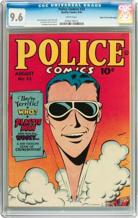 91190: Police Comics #33 Mile High pedigree (Quality, 1