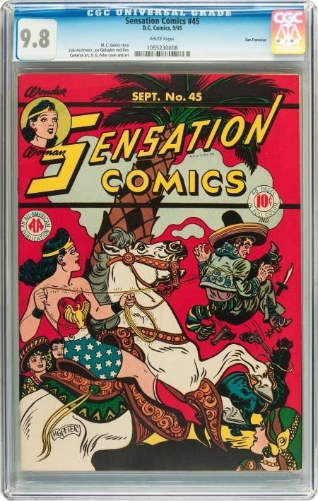 91191: Sensation Comics #45 San Francisco pedigree (DC,