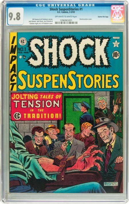 91196: Shock SuspenStories #1 Gaines File pedigree 2/11