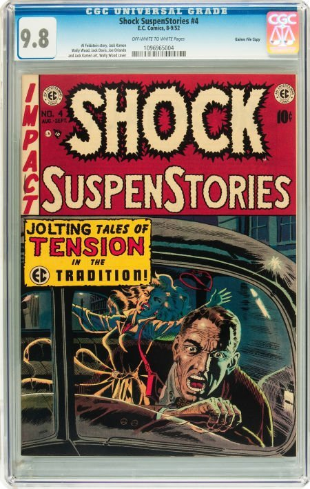 91199: Shock SuspenStories #4 Gaines File pedigree 2/12