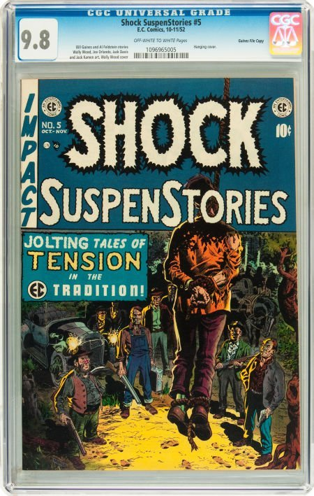 91200: Shock SuspenStories #5 Gaines File pedigree 2/7