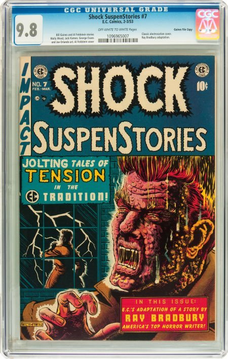 91202: Shock SuspenStories #7 Gaines File pedigree 2/11