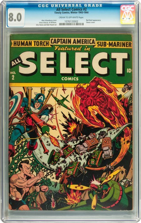91037: All Select Comics #2 (Timely, 1943) CGC VF 8.0 C