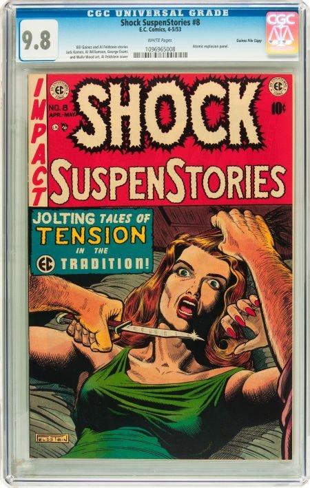 91203: Shock SuspenStories #8 Gaines File pedigree 2/12