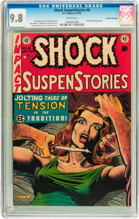 91203: Shock SuspenStories #8 Gaines File pedigree 2/12
