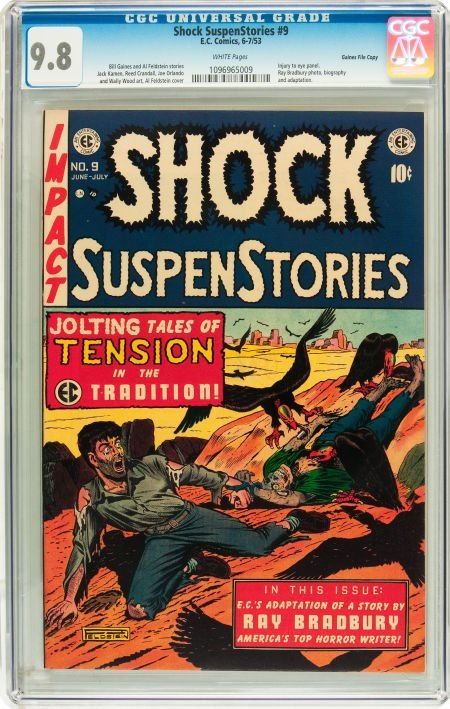 91204: Shock SuspenStories #9 Gaines File pedigree 2/11