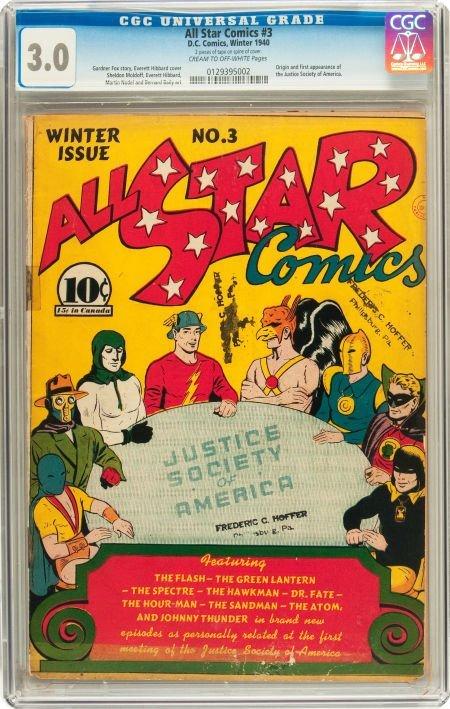 91041: All Star Comics #3 (DC, 1940) CGC GD/VG 3.0 Crea