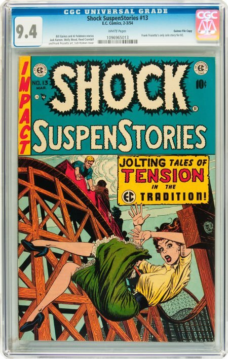 91208: Shock SuspenStories #13 Gaines File pedigree 2/1