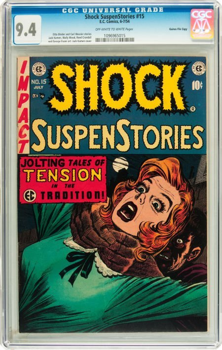 91209: Shock SuspenStories #15 Gaines File pedigree 2/1