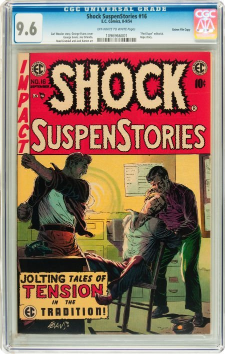 91210: Shock SuspenStories #16 Gaines File pedigree 2/1