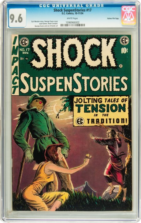 91211: Shock SuspenStories #17 Gaines File pedigree 2/1