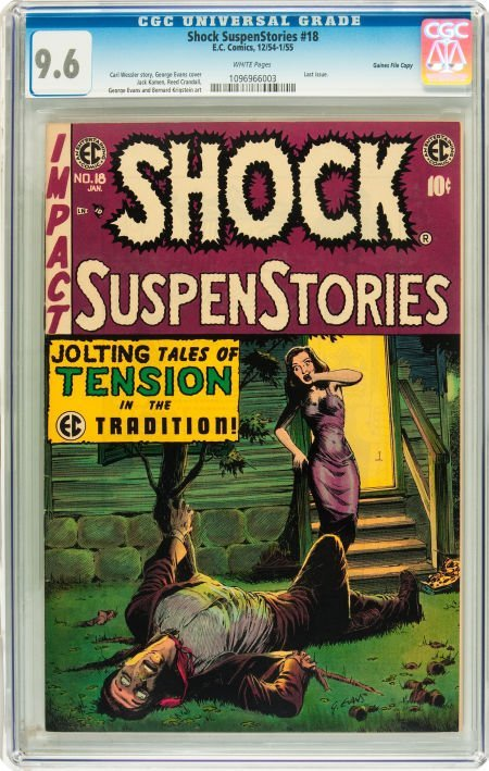 91212: Shock SuspenStories #18 Gaines File pedigree 2/1