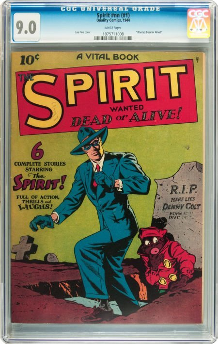91215: The Spirit #nn (#1) (Quality, 1944) CGC VF/NM 9.