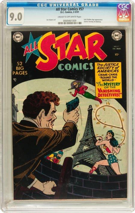 91050: All Star Comics #57 (DC, 1951) CGC VF/NM 9.0 Cre