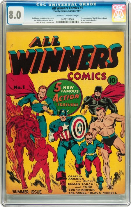 91051: All Winners Comics #1 (Timely, 1941) CGC VF 8.0