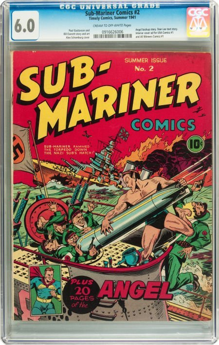 91222: Sub-Mariner Comics #2 (Timely, 1941) CGC FN 6.0