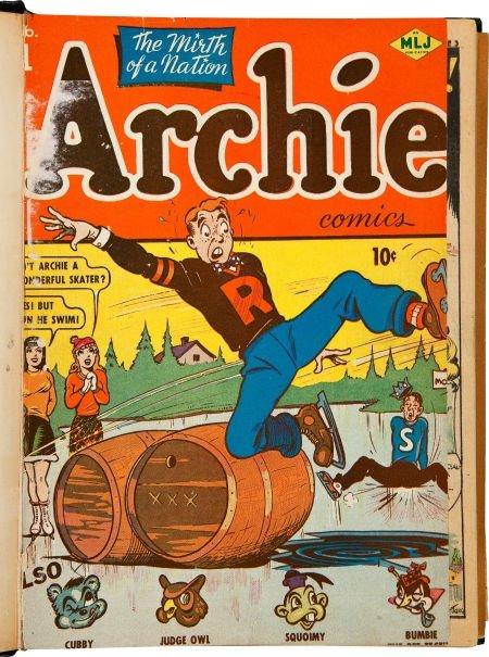 91055: Archie Comics #1-11 Bound Volume (Archie, 1942-4