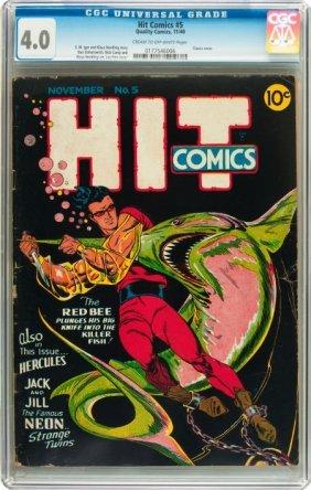 Hit Comics #5 (Quality, 1940) CGC VG 4.0 Cream T