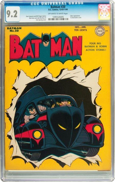 91061: Batman #20 (DC, 1943) CGC NM- 9.2 Off-white to w