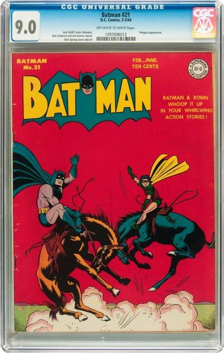91062: Batman #21 (DC, 1944) CGC VF/NM 9.0 Off-white to