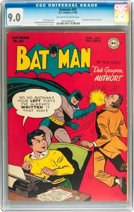 91064: Batman #35 (DC, 1946) CGC VF/NM 9.0 Off-white to