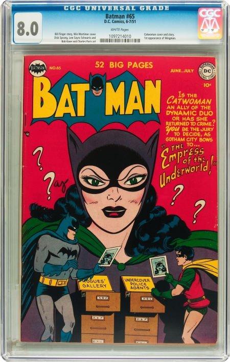 91065: Batman #65 (DC, 1951) CGC VF 8.0 White pages.