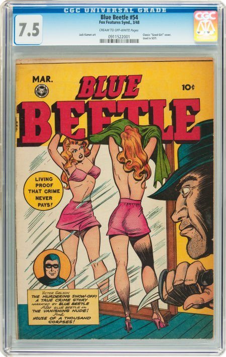 91067: Blue Beetle #54 (Fox Features Syndicate, 1948) C
