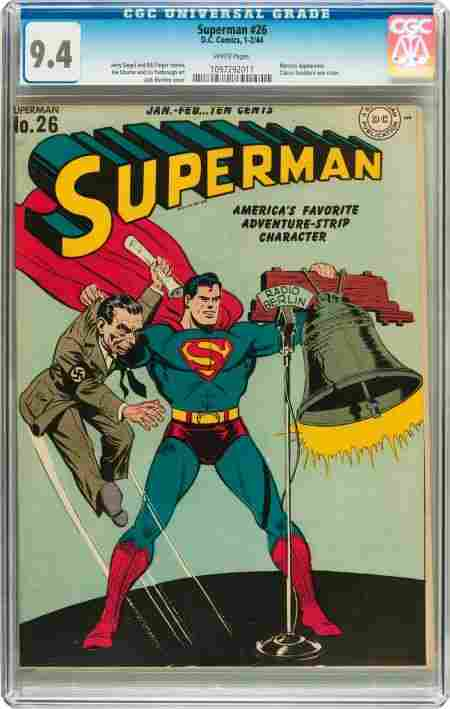 Superman #26 (DC, 1944) CGC NM 9.4 White pages.