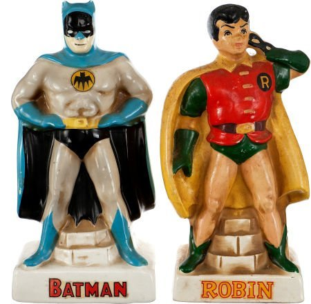 91401: Batman and Robin Ceramic Bank Set (Lego, 1966).