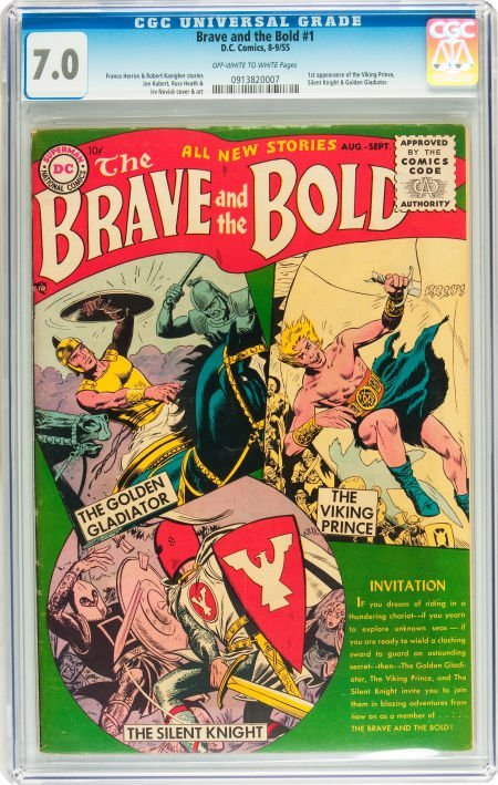 91070: The Brave and the Bold #1 (DC, 1955) CGC FN/VF 7