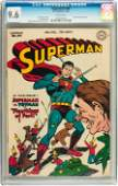 91238: Superman #44 (DC, 1947) CGC NM+ 9.6 White pages.