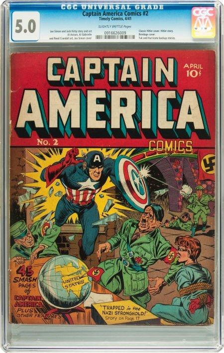 91072: Captain America Comics #2 (Timely, 1941) CGC VG/