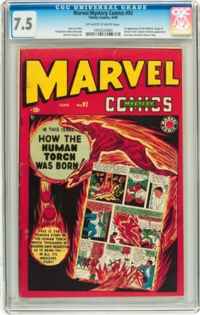 Marvel Mystery Comics #92 (Timely, 1949) CGC VF-
