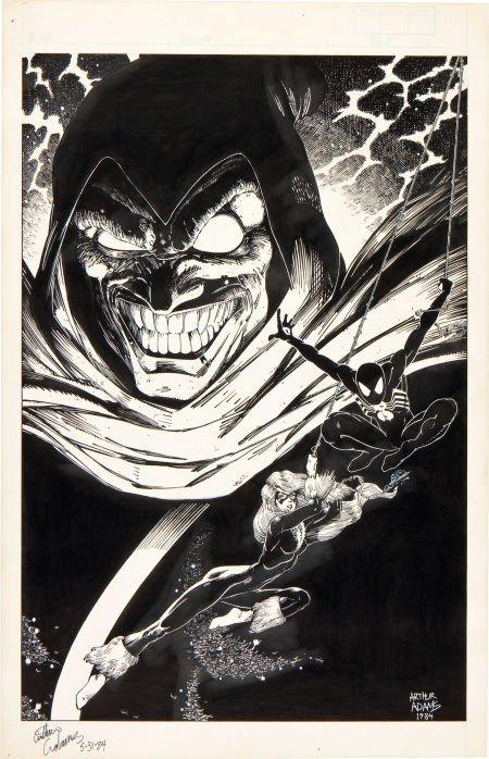 92001: Arthur Adams Marvel Fanfare #37 Spider-Man, Blac