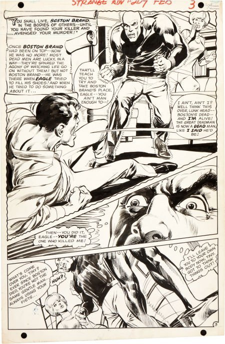 92002: Neal Adams Strange Adventures #209 Deadman Page
