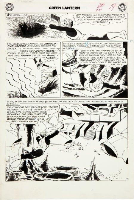 92193: Gil Kane and Joe Giella Green Lantern #8 Page 17