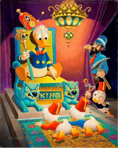 92011: Carl Barks Ancient Persia Donald Duck Painting O