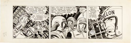 92199: Jack Kirby and Wally Wood Sky Masters Daily Comi